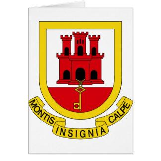 GIジブラルタルの紋章付き外衣 カード