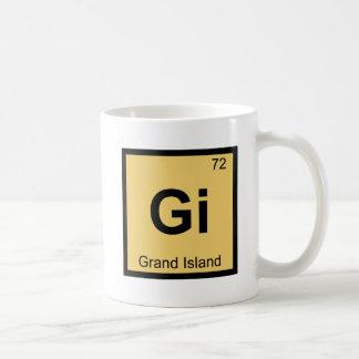GI -壮大な島のネブラスカ化学都市記号 コーヒーマグカップ