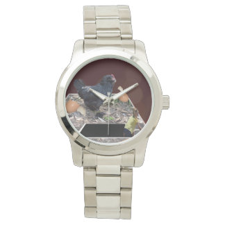 Giant_Chicken_Egg_Crush_Unisex_Large_Silver_Watch 腕時計
