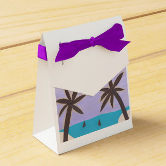 Gift Box with Palm Tree Design フェイバーボックス