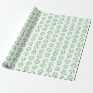Gift Wrap - Green Christmas Wreaths ラッピングペーパー