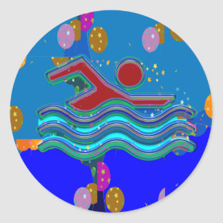 GiftPackの挨拶のステッカー-芸術的な装飾的 ラウンドシール