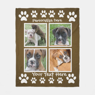 Gifts for a Dog Lover - Custom Photo Blankets フリースブランケット