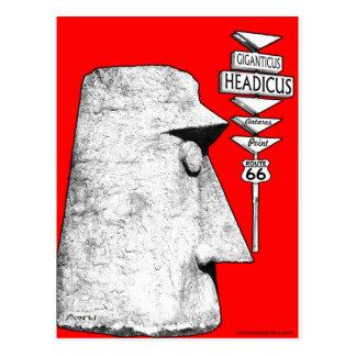 Giganticus Headicusのルート66のAntaresの交通標識 ポストカード