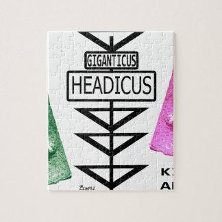 Giganticus Headicusの緑及びピンクのルート66 Kingman ジグソーパズル