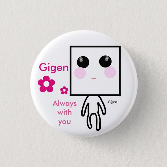 Gigen いつも一緒缶バッジ 3.2cm 丸型バッジ