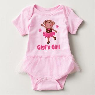 Gigiの女の子の孫猿のバレリーナのチュチュのティー ベビーボディスーツ