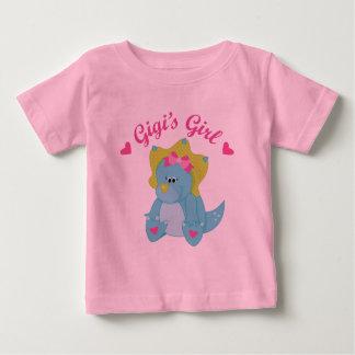 Gigisの女の子の恐竜 ベビーTシャツ