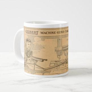 Gilbertのおもちゃの機関銃1919年 ジャンボコーヒーマグカップ
