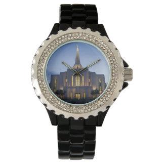 GilbertアリゾナLDSの寺院のラインストーンの腕時計 腕時計