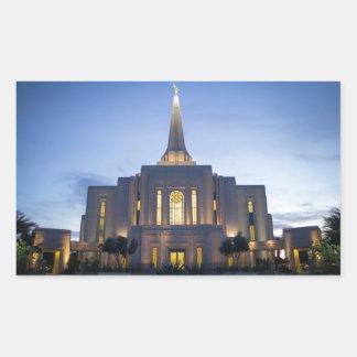 GIlbertアリゾナLDSの寺院 長方形シール