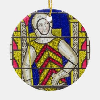 Gilbert deドクレアのグロスター(1243-95年)の第3伯爵 セラミックオーナメント