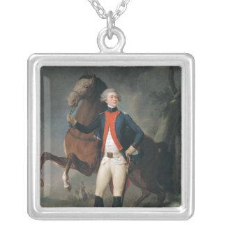 Gilbert Motier Marquis de la Fayette 1788年 シルバープレートネックレス