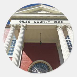 Giles郡の裁判所 ラウンドシール
