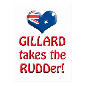GILLARDは舵を取ります ポストカード