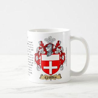 Gillis、起源、意味および頂上 コーヒーマグカップ