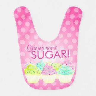 Gimme砂糖! -カラフルなカップケーキのベビー用ビブ ベビービブ