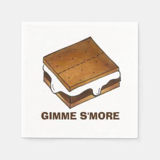 Gimme SmoreのキャンプのピクニックキャンプファイヤーのS'moresのナプキン スタンダードカクテルナプキン