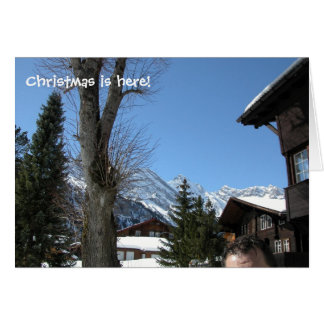 Gimmelwald、Suisseに、すばらしいクリスマスがあります、 カード