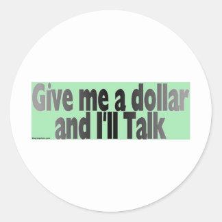 gimmie_dollar ラウンドシール