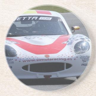 Ginettaの白いレースカー コースター
