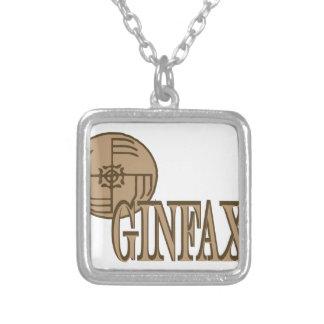 Ginfaxi シルバープレートネックレス
