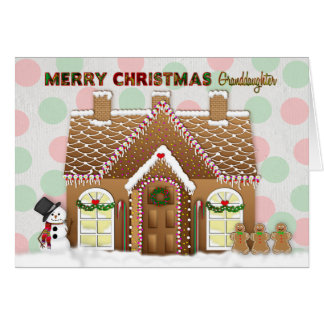 Gingerbread House Christmas - Granddaughter カード