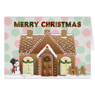 Gingerbread House Christmas Greeting カード
