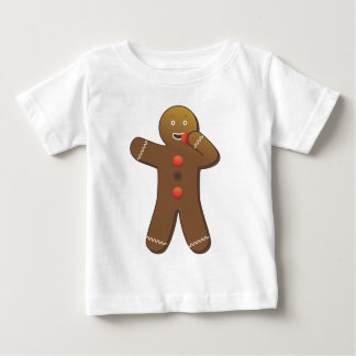 Gingerbreadmanのおもしろいな食べ物彼自身 ベビーTシャツ