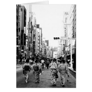 Ginza東京の様式化された挨拶状 カード