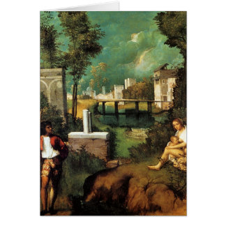 Giorgione暴風雨 カード