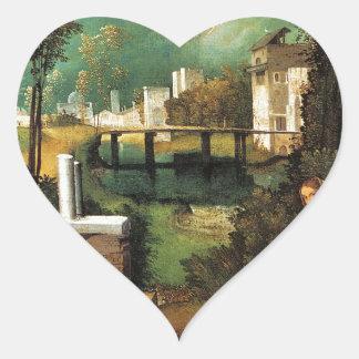 Giorgione暴風雨 ハートシール