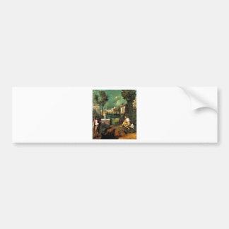 Giorgione暴風雨 バンパーステッカー