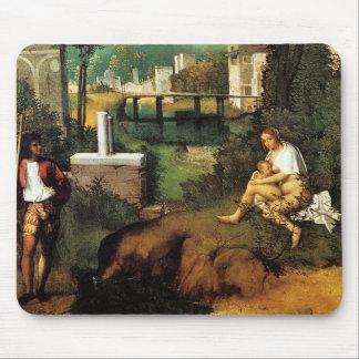 Giorgione暴風雨 マウスパッド