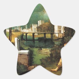Giorgione暴風雨 星シール