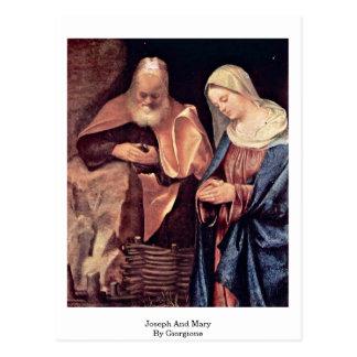 Giorgione著ヨセフそしてメリー ポストカード