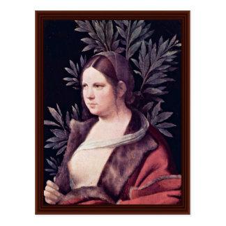 Giorgione著ローラ(若い女性のポートレート) ポストカード