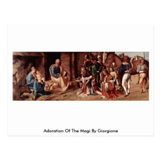 Giorgione著星学者の崇敬 ポストカード