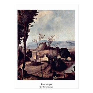 Giorgione著景色 ポストカード