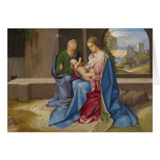 Giorgione著神聖な家族 カード