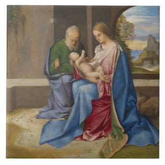 Giorgione著神聖な家族 タイル