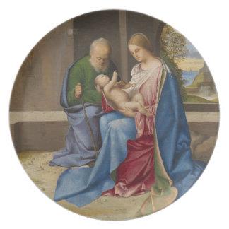 Giorgione著神聖な家族 プレート
