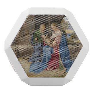 Giorgione著神聖な家族 ホワイトBluetoothスピーカー