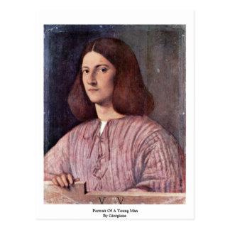 Giorgione著若者のポートレート ポストカード