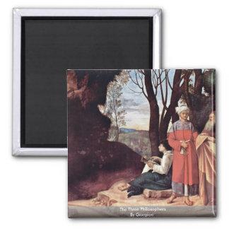 Giorgione著3人の哲学者 マグネット