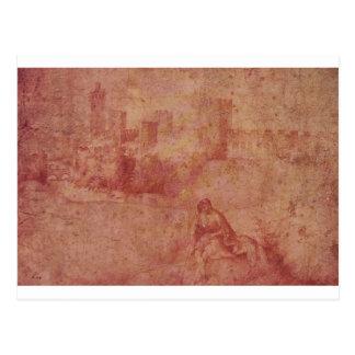 Giorgione著Castelfrancoそして羊飼いの眺め ポストカード