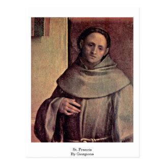 Giorgione著St Francis ポストカード