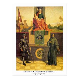 Giorgione著St.Liberalisの即位させたマドンナ ポストカード