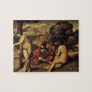Giorgione-の牧歌的なコンサート(Fêteのchampêtre) ジグソーパズル