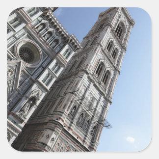 Giottoの鐘桜およびサンタマリアdel Fiore スクエアシール